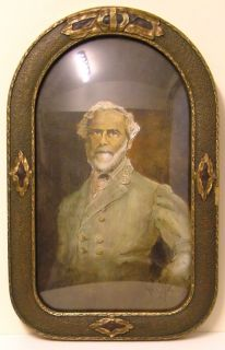 1864 Framed Robert E Lee Civil War Portrate Hand Painted by Jon Haber