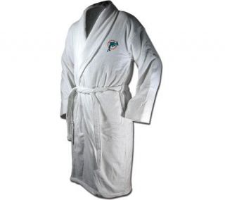 NFL Miami Dolphins Team Logo Embroidered Bath Robe   A313149