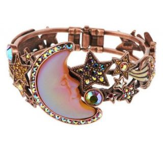 Kirks Folly Seaview Moon Shadow Hinged Cuff Bracelet —