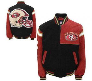 NFL San Francisco 49ers Genuine Suede Leather Jacket —