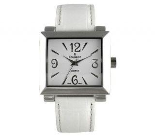 Peugeot Ladies Bold Square White Watch   J102751