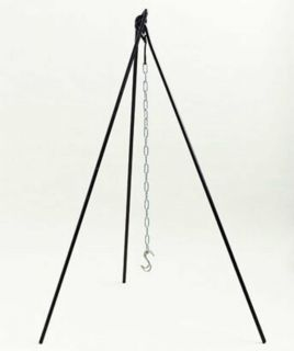 Portable CAST IRON TRIPOD w CHAIN Cooking Survival Camping Campfire