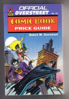 OVERSTREET COMIC BOOK PRICE GUIDE #19   BATMAN/JOKER COVER