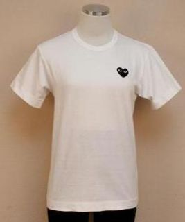 JCrew $90 Comme Des Garcons Play Embroidered Tee L White