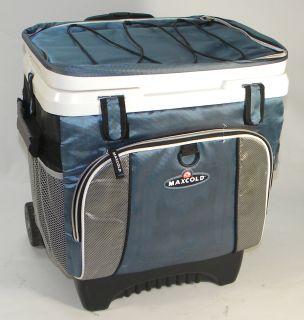 Coleman 16 quart wheeled cooler blue for Motor cooler on wheels