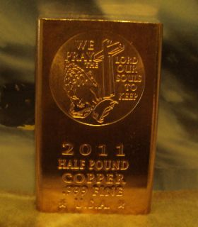 Jesus Christ 1 2 Pound 999 Copper Bullion Bar Wholesale Investment Lot