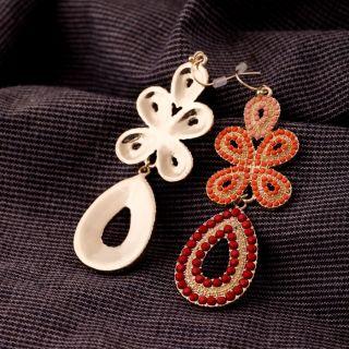 New York Popular winter Fashion Jewelry Capri Chandelier Earring coral