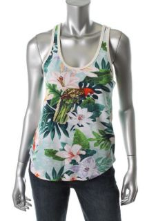 Juicy Couture New Multi Color Printed Racerback Scoop Neck Tank Top s