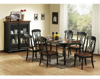 CASUAL COUNTRY BLACK DINING TABLE CHAIRS DINING ROOM FURNITURE SET