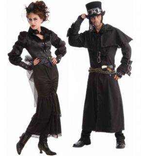 Steampunk  Victorian Lady & Duster Coat Couples Costume Set  Standard