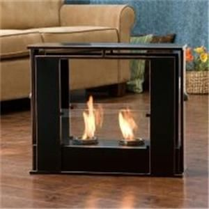 PORTABLE INDOOR OUTDOOR PATIO DECK FLOOR GEL FUEL FIREPLACE FIRE PLACE