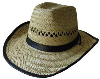 Straw Cowboy Hat Festival Stetson Hat with Chin Cord