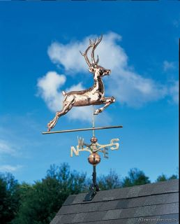 Whitehall 58 Copper Deer Full Bodied Rooftop Weathervane 45021