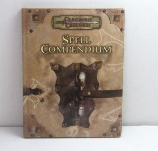 Dungeons & Dragons Spell Compendium d20 3.5 Hardcover Book Used