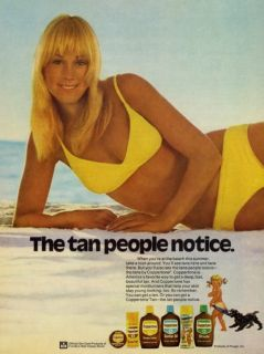 973 coppertone suntan lotion ad but you ll also see the tans people