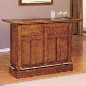 Powell Furniture Brandon Wooden Home Bar Cherry New