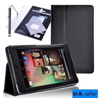 Google Nexus 7 Tablet Cover Case +Sleep/Wake Feature+Stylus Pen+Screen
