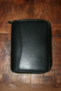 Compact Black Nappa Leather Franklin Covey Planner Binder Organizer 6