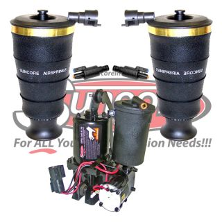 Rear Suspension Air Spring Bags Solenoid Valves Compressor Kit