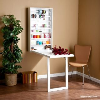 Murphy White Wall Mount Craft Desk White