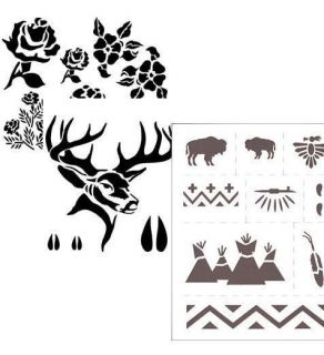 Childrens Art Craft Stencil Paint Project Design Draw
