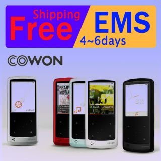 new COWON iAudio 9 8GB Slim Fit MP4  Player Black White Silver Red