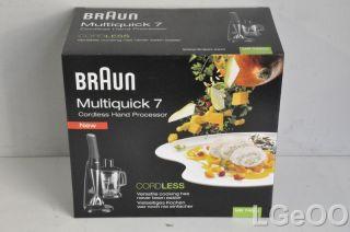 New Braun Multiquick 7 Cordless Hand Processor   MR740cc (Black)