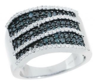 AffinityDiamond 1.00 ct tw Sterling Bold Band Ring —