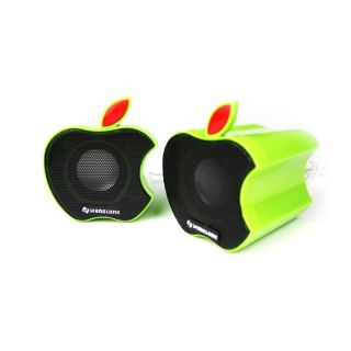 Cute Portable USB Speakers for PC Laptop Computer Green