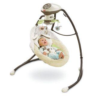 Fisher Price V0099 My Little Snugabunny Cradle N Swing