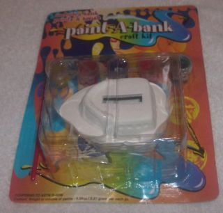 Paint a Bank craft kit Boat, Cat, Butterfly, Car