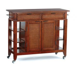 Home Styles Jamaican Bay Large Kitchen Cart —