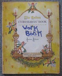 Vintage The Golden Christmas Book Crampton Malvern 1947 Activity Book
