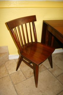 Genuine Mid Century Cherry Willett Transitional Dining Table Chairs