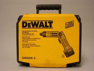 DeWalt DW920K 2 Heavy Duty 7 2 Volt Cordless Screwdriver Kit