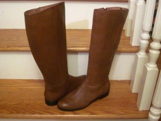 Corso Como Knee High Tall Whisky Leather Randy Riding Boots Womens 7 5