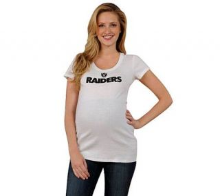 NFL Oakland Raiders Womens Maternity T Shirt —