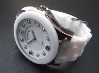 crois reloj para mujer blanco correa de suilicona suave modelo 8119