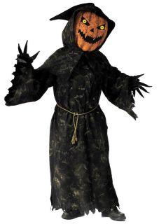 Bobble Head Pumpkin Horror Scary Fancy Dress Halloween Costume + Mask