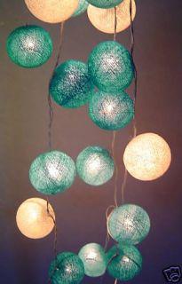 Blue Moon Cotton Ball Fairy Light Lite String 20 Cotton Balls 220V UK