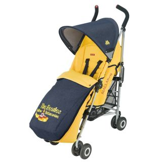 Maclaren Beatles Quest Yellow Submarine Stroller ~ BONUS FOOTMUFF $90