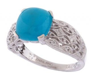 Tacori IV Diamonique Epiphany Simulated Turquoise Ring —