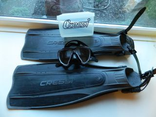 Cressi Sub XL Pro Lite Fins and Big Eye Mask