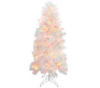 Bethlehem Lights 7.5 Flocked Tree w/ Ready Shape and 5 Year LMW