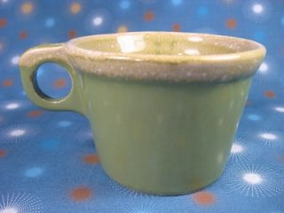 Hull Oven Proof Crestone Drip Green Coffee Mug Cup USA