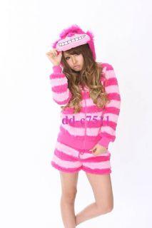 SAZAC Cheshire Cat Costume sweat Parka Shirt Short Pants Pair Set M