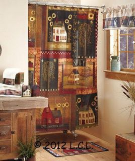 Simplify Country Home Bath Collection Shower Curtain Towels Rug