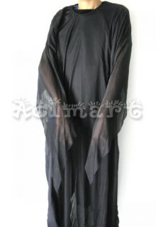 Blk Ghost Robe Halloween Dress Up Party Costume Horror