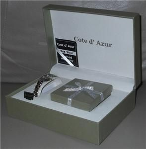Cote DAzur Womens Gift Set Watch Necklace Earrings and Ring New in