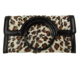As Is Joan Rivers Call of the Wild Animal Print Clutch   A232387